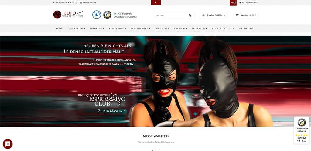 EUFORY zählt als bester BDSM Shop