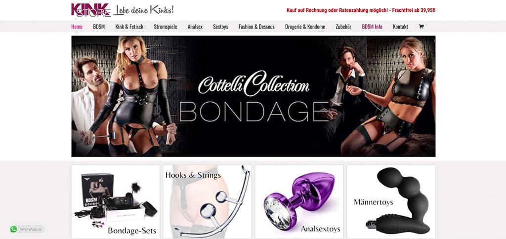Der BDSM Online Shop KinkStore versorgt dich auch mit BDSM Kleodung, Sexspielzeug und heißen Fetisch Dessous