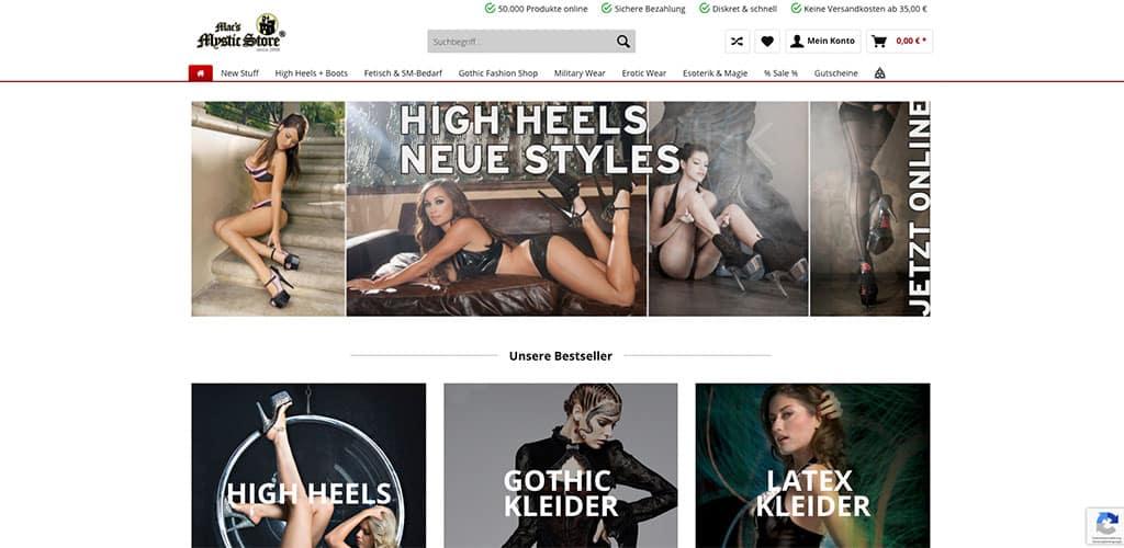 Der Mystic Store ist eine gute Anlaufstelle für BDSM Zubehör, Latex Kleidung, Lack Kleidung und Sadomaso Spielzeug