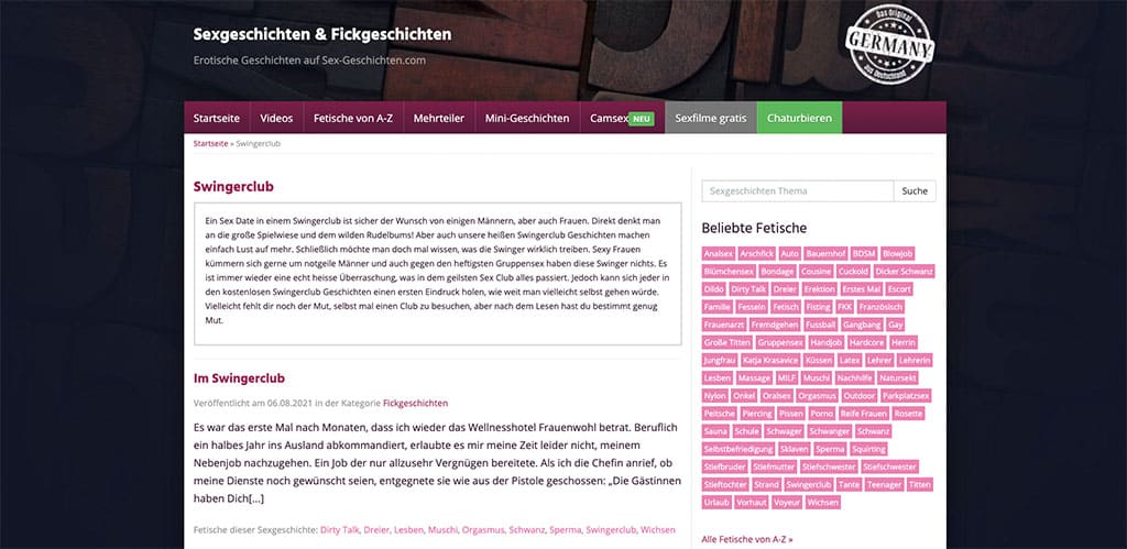 Sexgeschichten-Gratis.de bietet Swingerclub Geschichten ohne Ende an